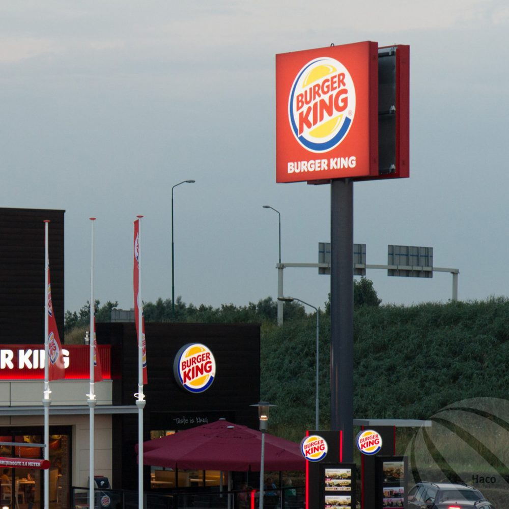 Reclamemast Burger King