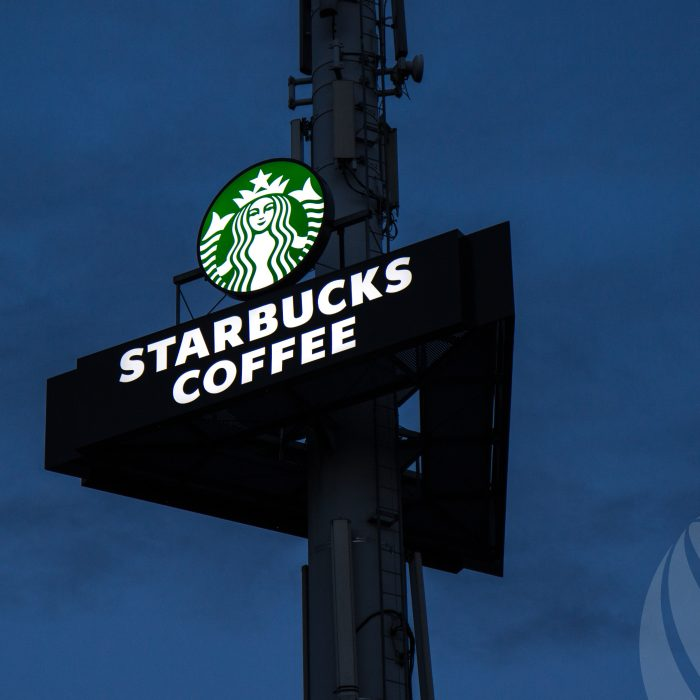 Reclamemast Starbucks