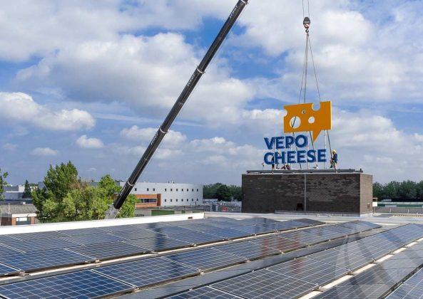 Lichtreclame zonne-energie